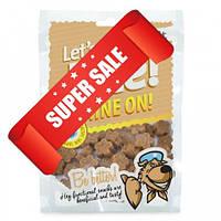 Лакомства для блестящей шерсти и здоровой кожи для собак Brit Let's Bite Shine On 150 г