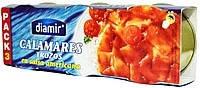 Кальмар Calamares Trozos en salsa americana   Diamir, 3 х 80 гр, фото 2