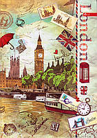 """Канцелярская книга А4 96 л. тв. переплёт """"London"""" ТП-27-131"""