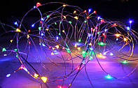 Светодиодная гирлянда Роса от батареек, длина 3м, цвет мультиколор, фото 1
