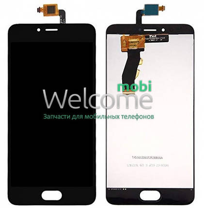 Модуль Meizu M5s/M5s mini black, дисплей экран, сенсор тач скрин мейзу, фото 2