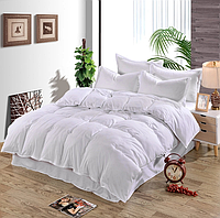 Комплект постельного белья Сатин ROYAL Набор постельного белья WHITE полутороспальный, евро, двуспальный
