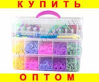 Набор для плетения Rainbow Loom Bands 12000 резиночек