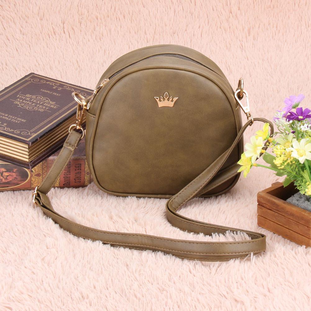 Женская сумка через плечо Crown корона оливковая, Жіноча сумочка, Клатч