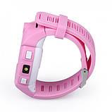 Детские Смарт часы с GPS Q610  (Smart Baby Watch) Умные часы Розовые, фото 3