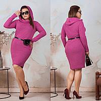 Платье большого размера / ангора / Украина 35-286