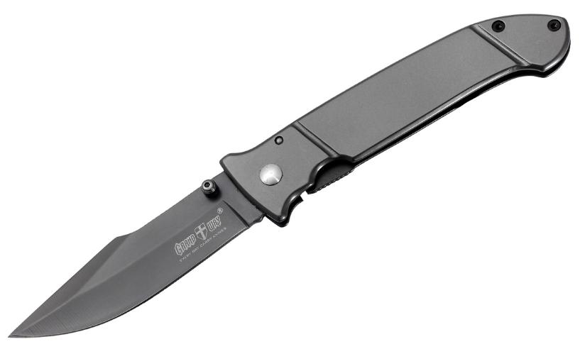 """Нож складной, с металлической рукояткой, с матовым """"титановым"""" покрытием, яркая модель,для ежедневного ношения"""