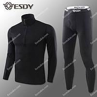 Термобелье Мужское Флисовое ESDY Pro Black ( комплект термобелья ) M