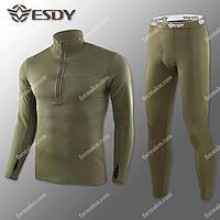 Термобелье Мужское Флисовое ESDY Pro Olive ( комплект термобелья ) M