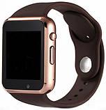 Смарт часы Smart Watch A1 Gold/Brown, фото 2