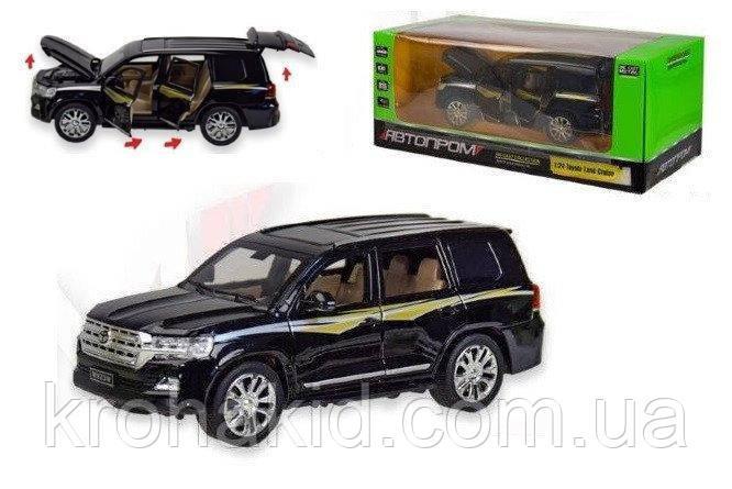 """Машина метал 7690 """"АВТОПРОМ""""1:24 Toyota черный"""