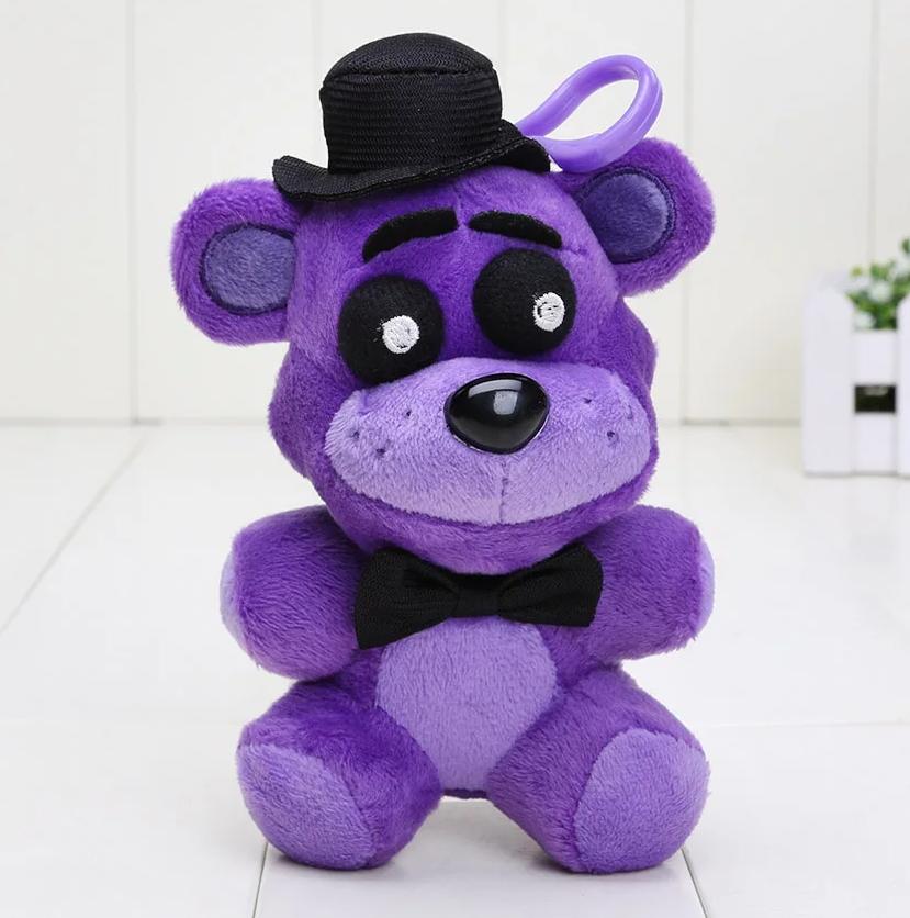 5 ночей с Фредди Плюшевая мягкая игрушка Пурпурный медведь Аниматроники Фнаф fnaf 15см