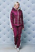 Женский зимний спортивный костюм бордо