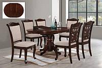 Стол со стульями МО-1 из масива дерева для гостинной