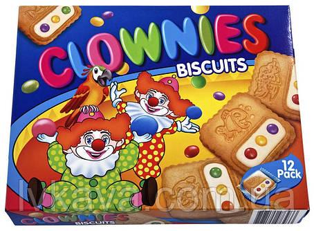 Печенье  Zirkus Clownies с молочным кремом и разноцветным шоколадным драже Biscotto,175 гр, фото 2