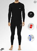 Мужское термобелье в стиле Nike (black), термобелье Найк (Реплика ААА)