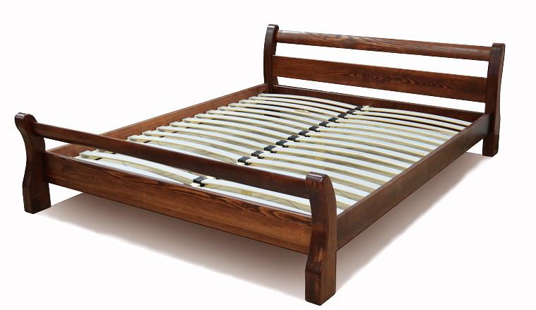 """Двуспальная кровать """"Ретро"""" Орех деревянная"""