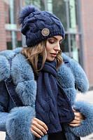 Жіночий зимовий комплект «Малинуа» (шапка і шарф)