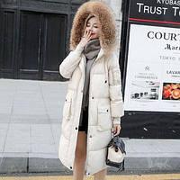 Женский пуховик капюшон с мехом зимний новейшая модель 2019 (ANA -1771)