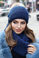Жіночий зимовий комплект «Кларк» (шапка і снуд)