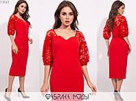 Женское платье футляр АК/-1887 - Красный, фото 1