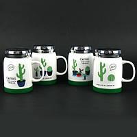 NEW! Подарочные керамические чашки с термо-крышками