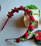 Обруч з цукровими ягодами калини та листочками 85 грн, фото 2