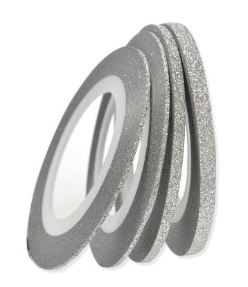 Гибкая сахарная лента для ногтей (маникюра) 1мм серебро