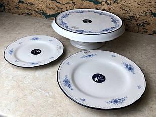 Тарілка маленька біла керамічна Dekore UA