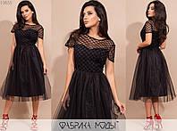 Платье женское миди беби долл АК/-17271 - Черный, фото 1
