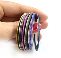 Гибкая сахарная лента для ногтей (маникюра) 1мм, Набор 12 цветов, фото 1