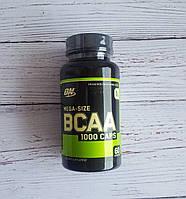 Аминокислотный комплекс BCAA 1000мг для спорта Optimum Nutrition США L-лейцин, L-изолейцин, L-валин