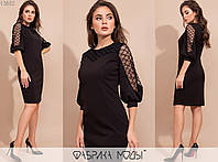 Женское платье приталенного кроя АК/-4122 - Черный, фото 1