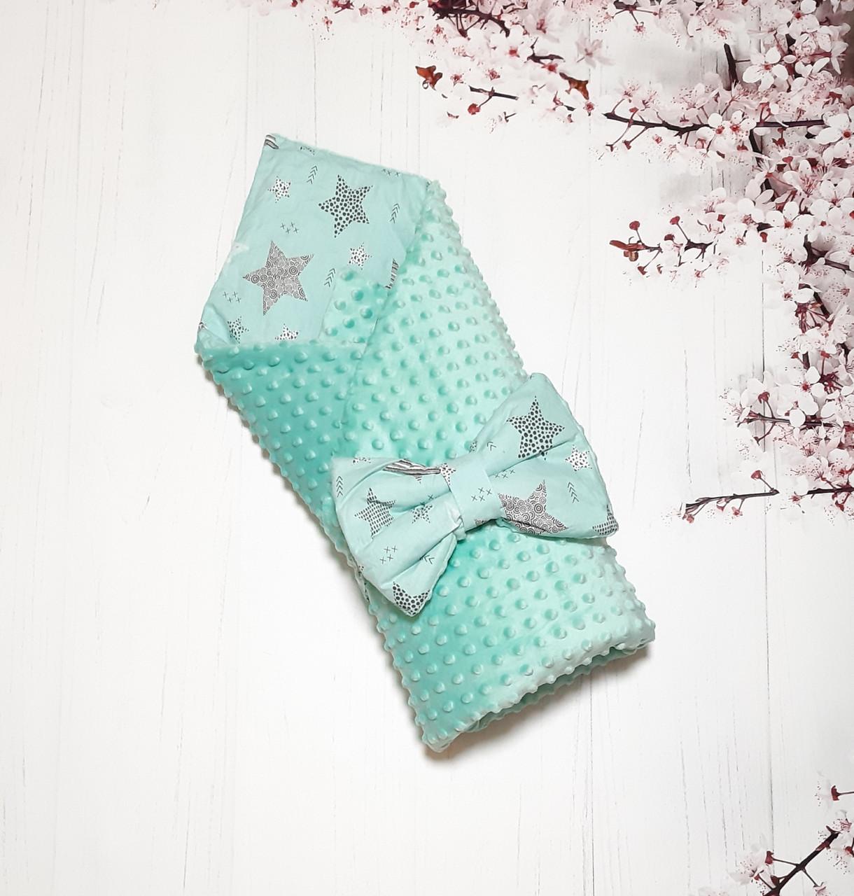 Плюшевый конверт-одеяло на выписку