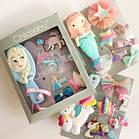 Набор детских аксессуаров заколки и расческа для девочек младшего возраста Русалочка, фото 6