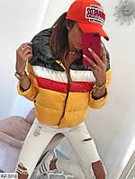 Женская модная дутая куртка синтепон 250