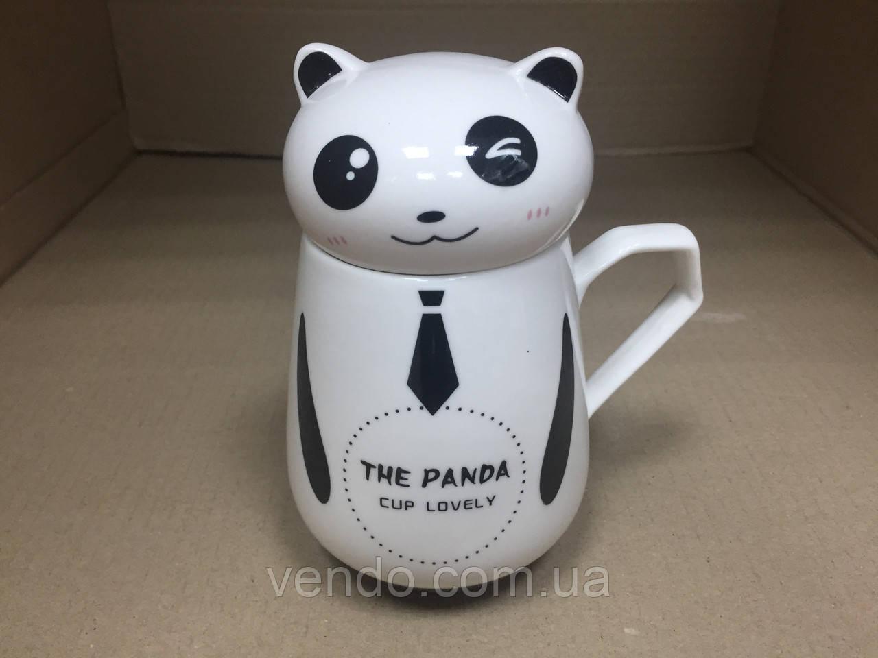 Кружка-чашка с крышкой Панда 450 мл