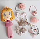 Набор детских аксессуаров заколки и расческа для девочек младшего возраста Принцесса, фото 3