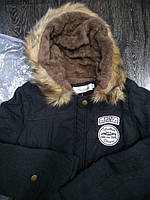 Парка мужская ARMY меховая подкладка с капюшоном