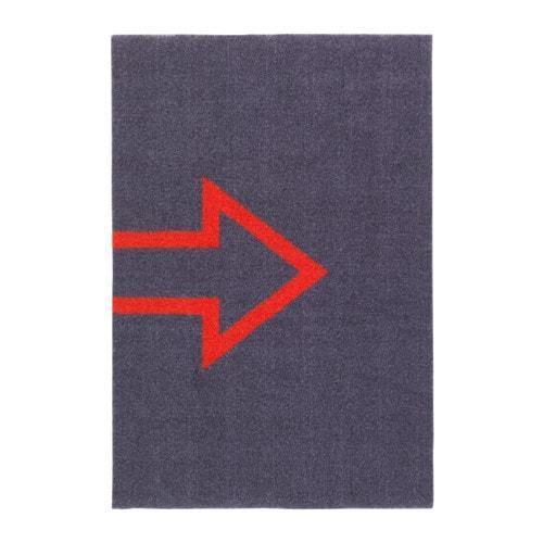 SEJET Придверный коврик, темно-серый, 40х60 см, 40382771, ИКЕА, IKEA, SEJET