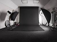 Черный Виниловый фото фон PhotoProoF 150х200 см, Настоящий Виниловый фотофон