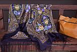 Свет мой, зеркальце 1815-15, павлопосадский платок (шаль) из уплотненной шерсти с шелковой вязанной бахромой, фото 8