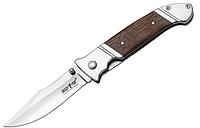 Нож складной, с металлической и деревянной рукояткой, коричневый, крупный, для ежедневного ношения, с клипсой