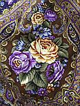 Свет мой, зеркальце 1815-15, павлопосадский платок (шаль) из уплотненной шерсти с шелковой вязанной бахромой, фото 9