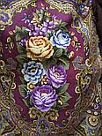 Свет мой, зеркальце 1815-15, павлопосадский платок (шаль) из уплотненной шерсти с шелковой вязанной бахромой, фото 7