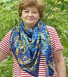 10826-14, павлопосадский платок из вискозы с подрубкой, фото 9