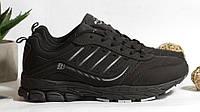 0366 Кроссовки BONA из натуральной кожи.Черные. 39 размер - стелька 25 см, фото 1
