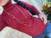 Гольф жіночий з візерунком і додаванням люрикса червоний, пудра, сірий, фото 4