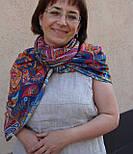 10476-14, павлопосадский платок из вискозы с подрубкой, фото 10