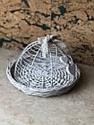 Плетена корзина біла декоративна, фото 2